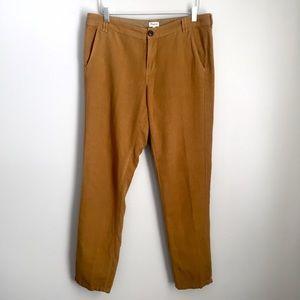 Madewell Rivington Linen Blend Pants Mustard 10